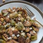 Maple Balsamic Brussel Sprouts with Walnuts and Feta