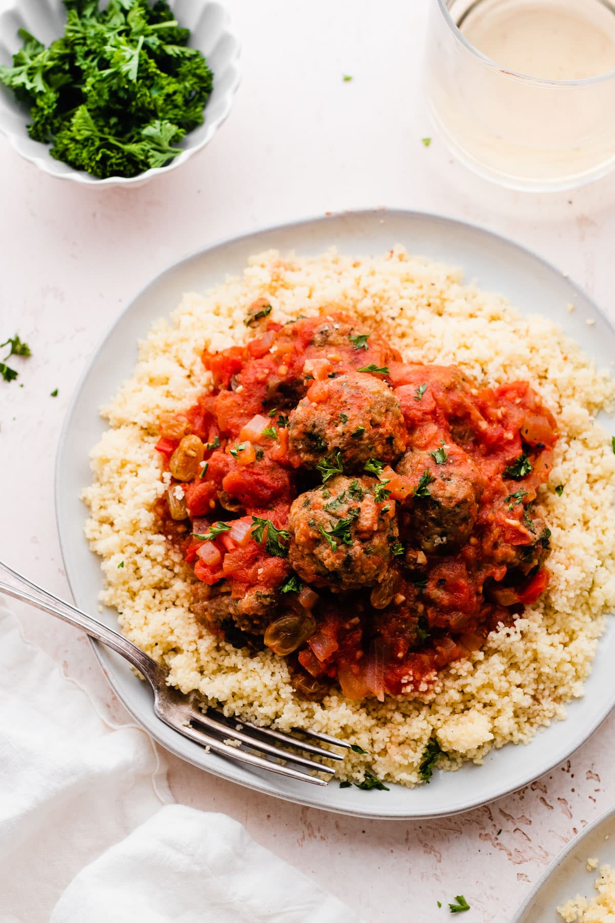 Moroccan Turkey Meatballs—juicy turkey meatballs with the warm spices and flavors of Moraoco