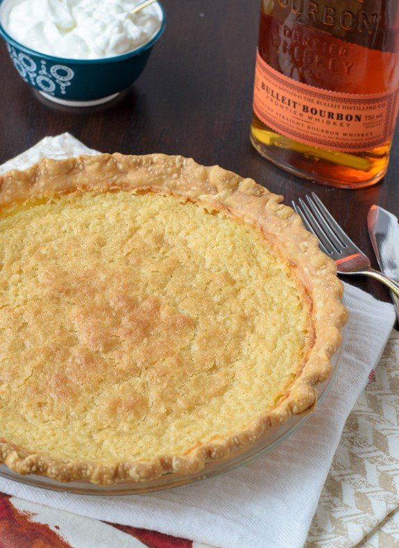 Southern Buttermilk Pie with Bourbon