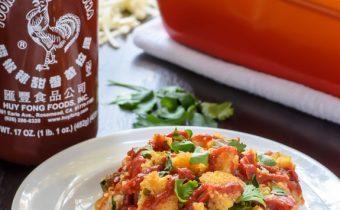 Sriracha Cornbread Sausage Stuffing