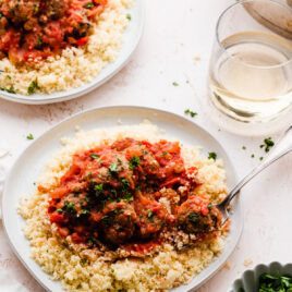 The juiciest turkey meatballs with Morrocan spices