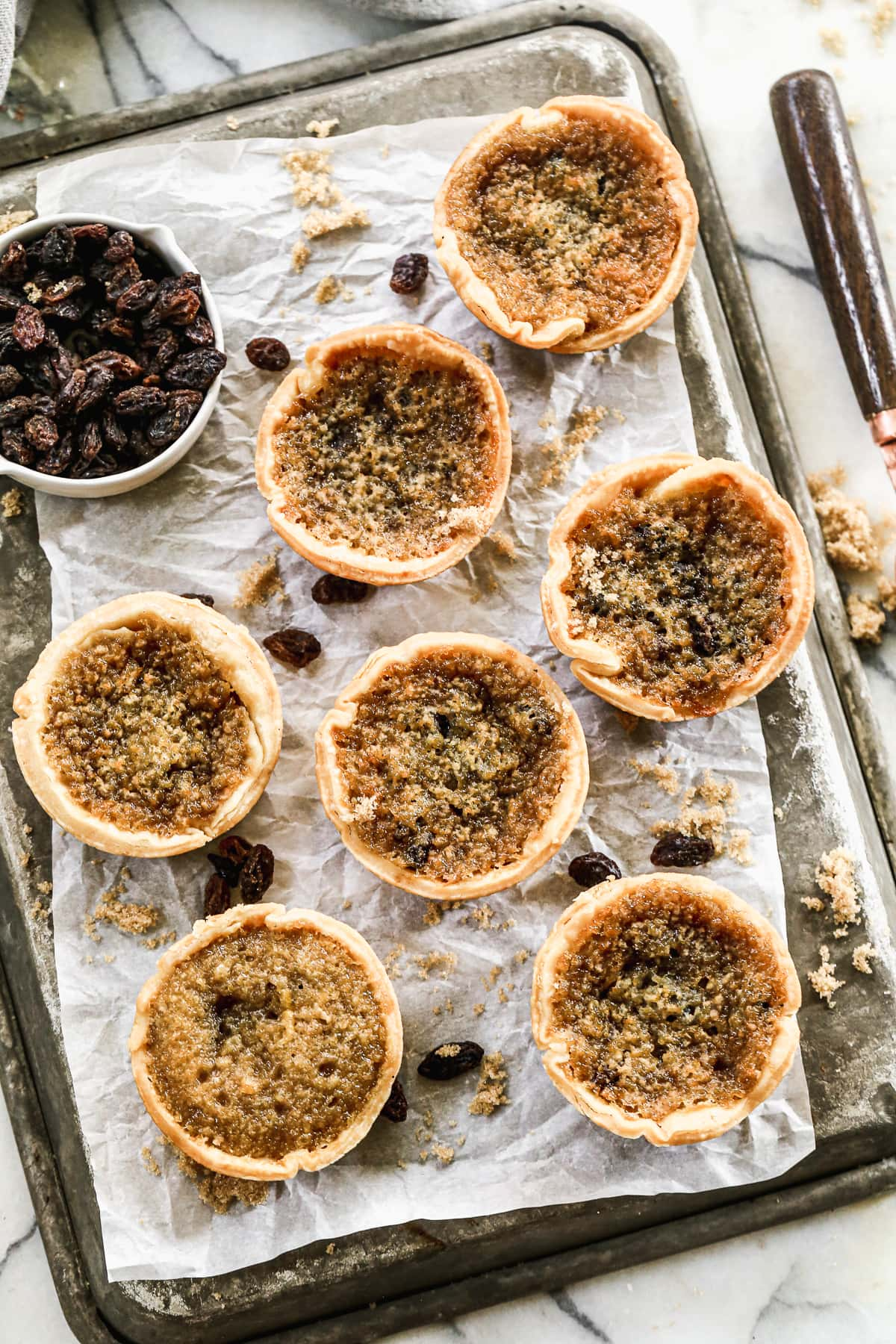Butter Tarts - Mini tarts baked in muffin tin