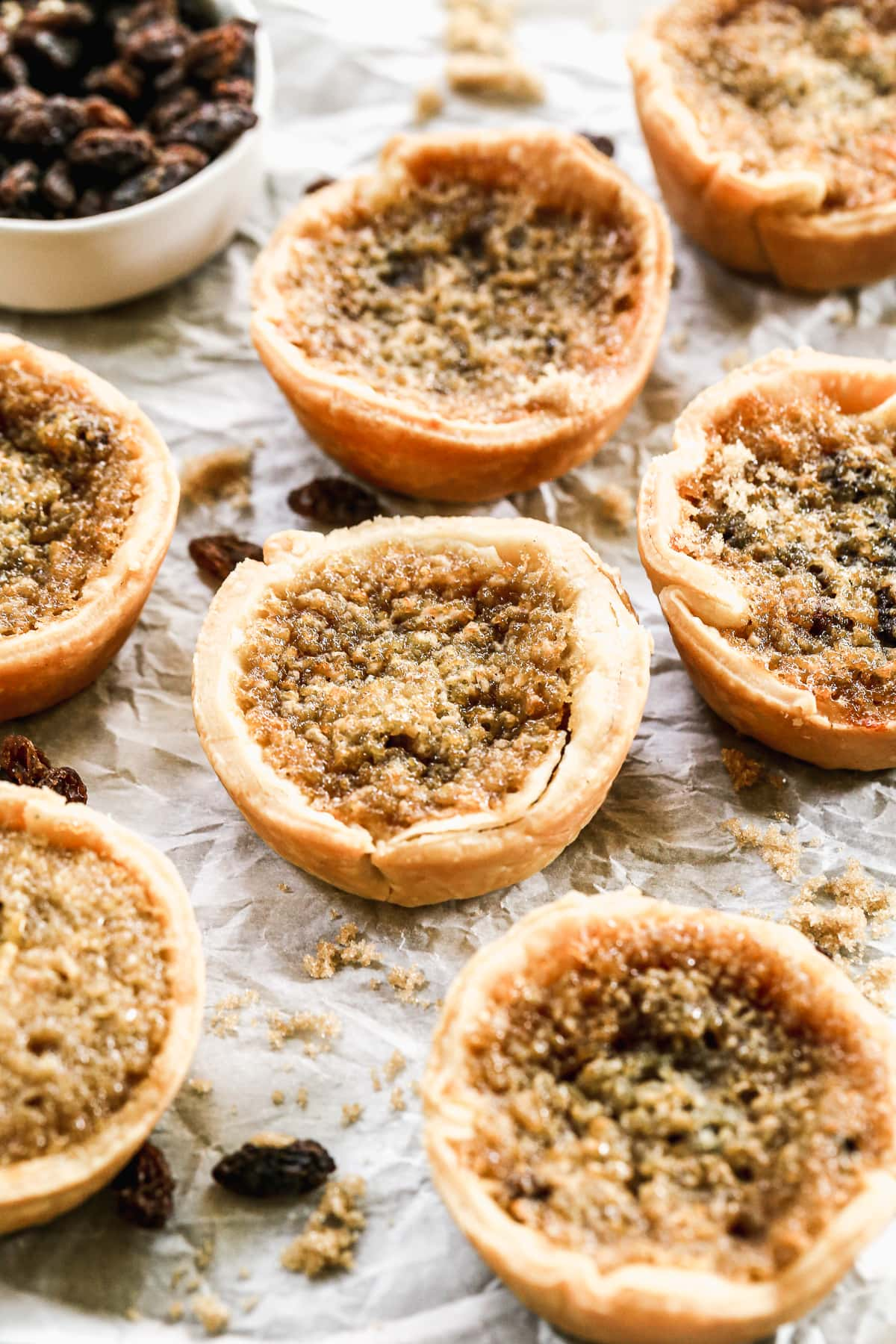 Butter Tarts. A gooey, old fashioned dessert similar to pecan tarts