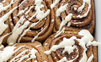 Gingerbread Cinnamon Rolls with Cinnamon Cream Cheese Frosting