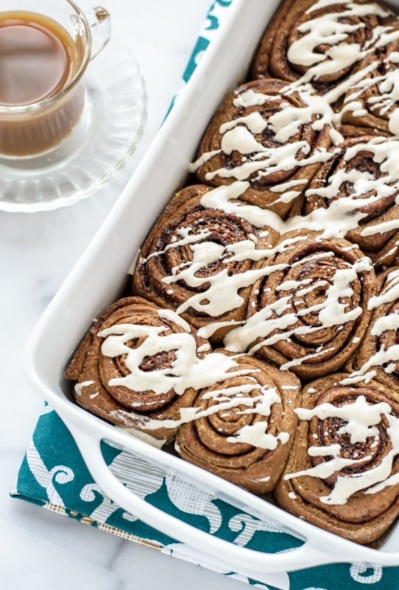 Gingerbread Cinnamon Rolls with the best Cinnamon Cream Cheese Frosting
