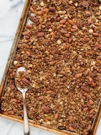 Gingerbread Granola. The best healthy granola recipe with nuts and spices