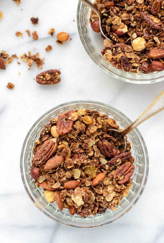 Gingerbread Granola. The best healthy homemade granola recipe!