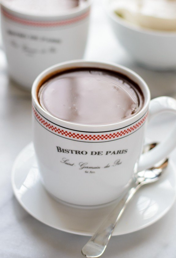 bistro mugs of the best French Hot Chocolate