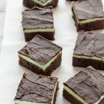 BEST Mint Brownies. Rich, fudgy and perfect. All chocolate mint lovers must bake this! #holiday #christmas