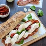 Chicken Caesar Sandwiches- Like a chicken Casear salad and club sandwich in one! Easy and healthy recipe