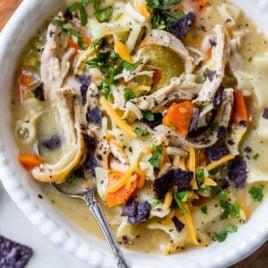Easy Healthy Creamy Chicken Noodle Soup