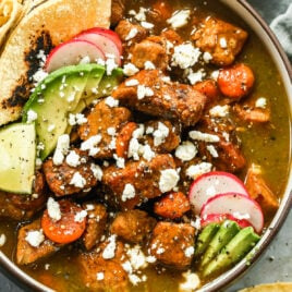 plate of salsa verde easy slow cooker pulled pork
