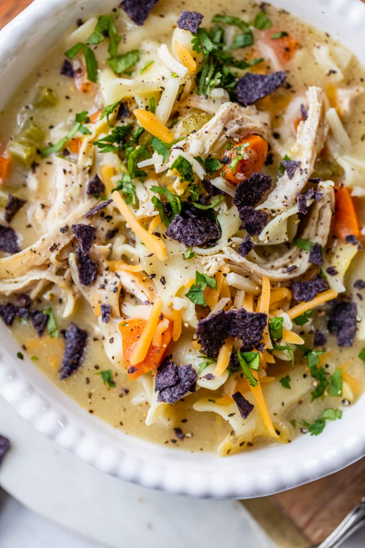 Healthy Creamy Chicken Noodle Soup