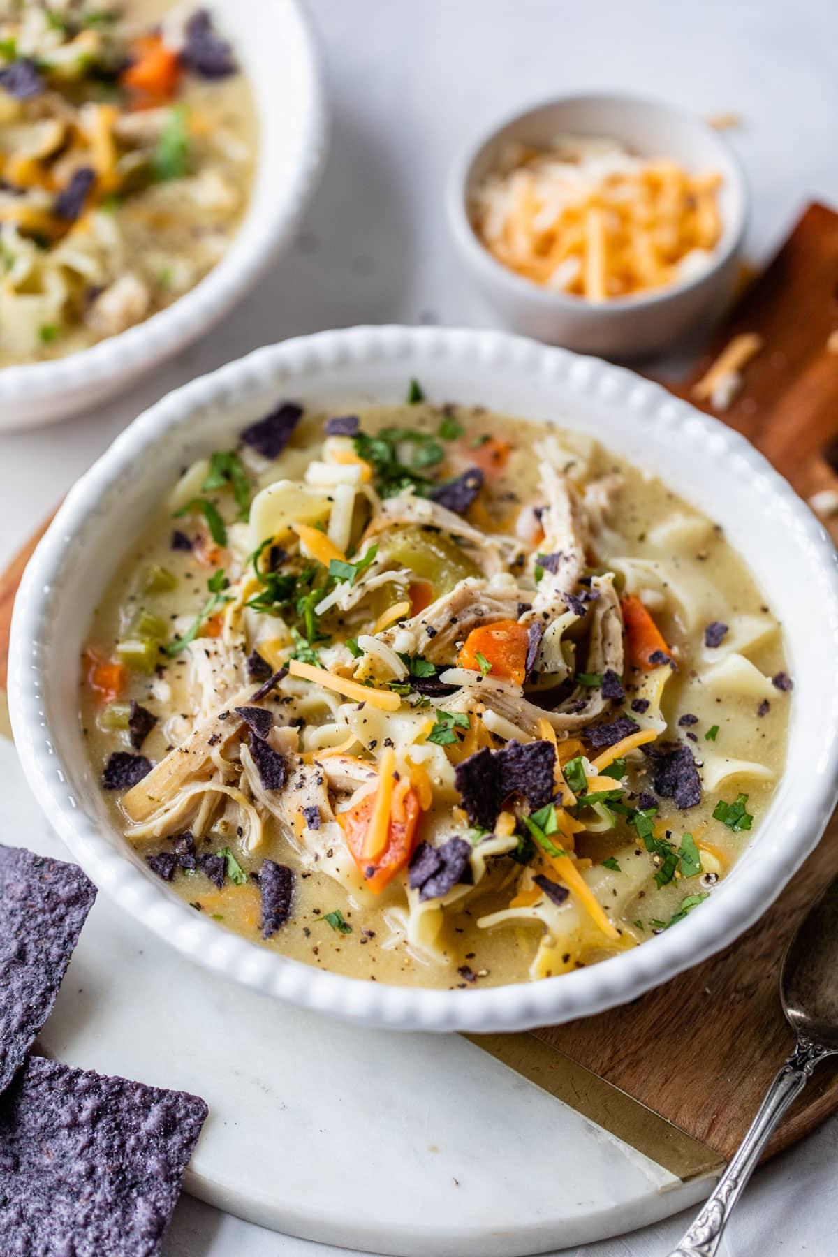 Healthy Easy Creamy Chicken Noodle Soup