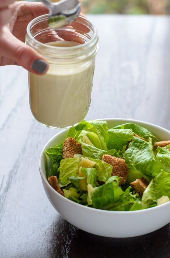 Healthy Easy Homemade Caesar Dressing