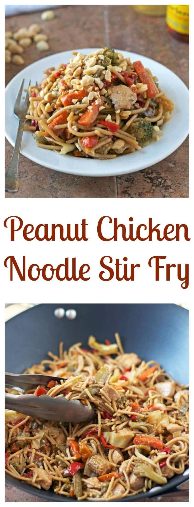 Peanut Chicken Noodle Stir Fry