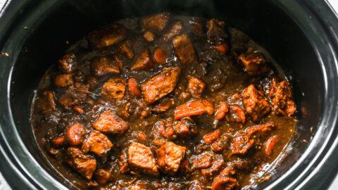 chile verde pork in a crockpot