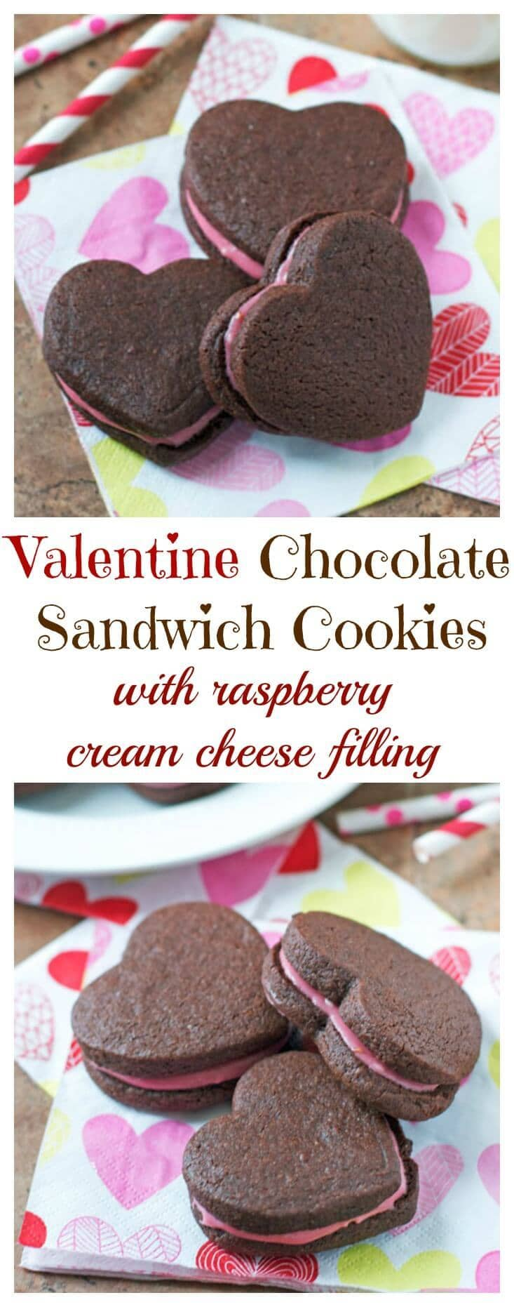 Chocolate Sandwich Cookies with Raspberry Cream Cheese ...