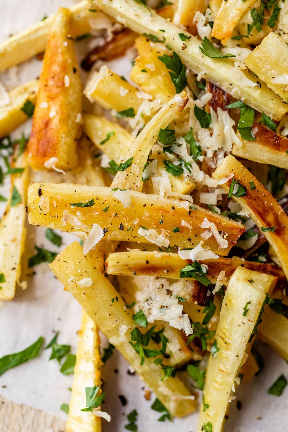 Baked Parmesan Parsnip Fries