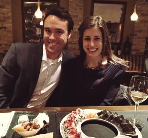 Ben and I at the Winery Bar
