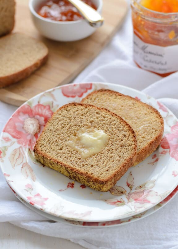 Cheater's homemade English muffins- English muffin bread. Tastes just like an English muffin, but is quick and easy to make!