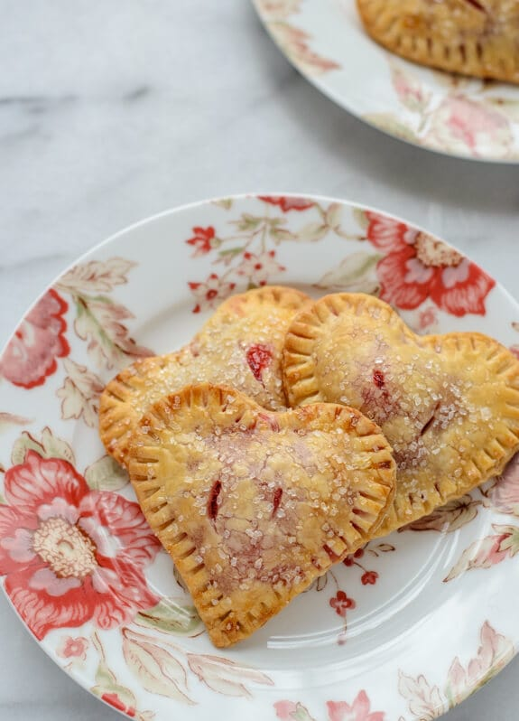 Easy Heart Strawberry Hand Pies