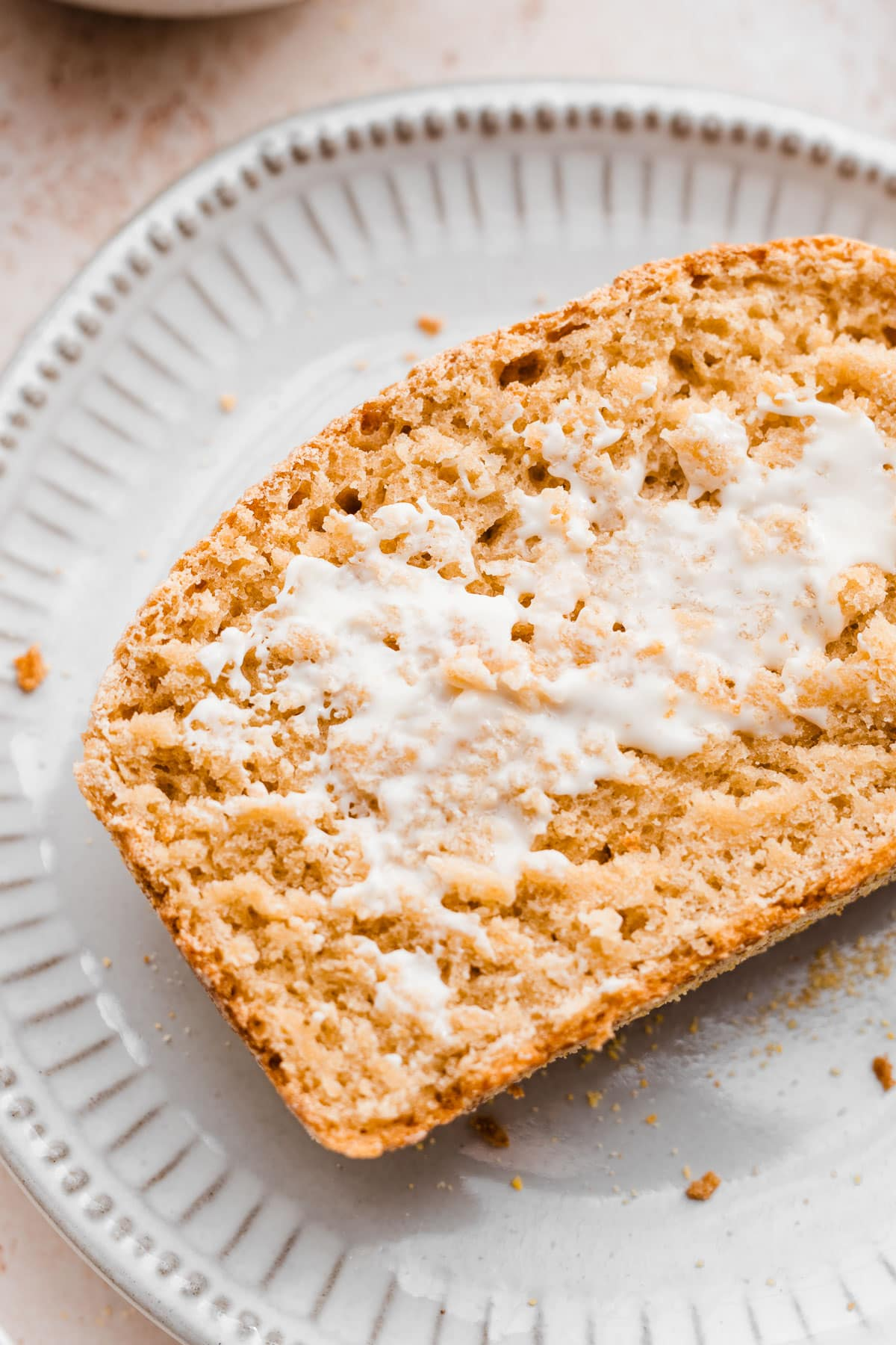 English muffin bread- Tastes just like homemade English muffins, but is so easy to make. No kneading required!