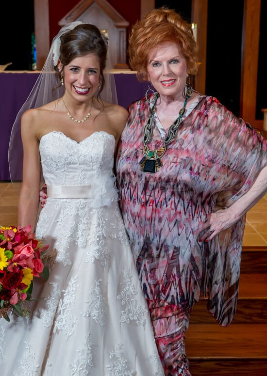 Grammy and me at wedding