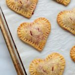 Heart Shaped Strawberry Handpies. Perfect for Valentine's Day!