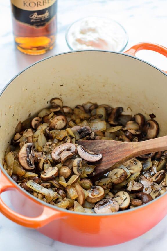 Lentil Mushroom Stroganoff. An easy, healthy and family friendly dinner