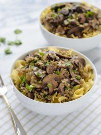 Lentil Mushroom Stroganoff. Skip the beef and make this healthy mushroom stroganoff recipe instead