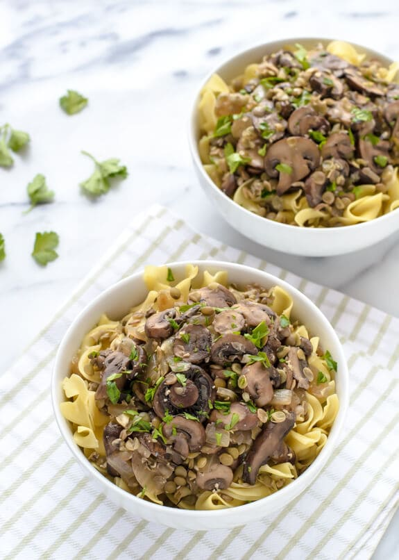 Lentil Mushroom Stroganoff. Try this healthy version of classic beef stroganoff for an easy weeknight meal