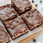 Mississippi Mud Pie Bars. Decadent chocolate marshmallow bars topped with fudge frosting. to die for!