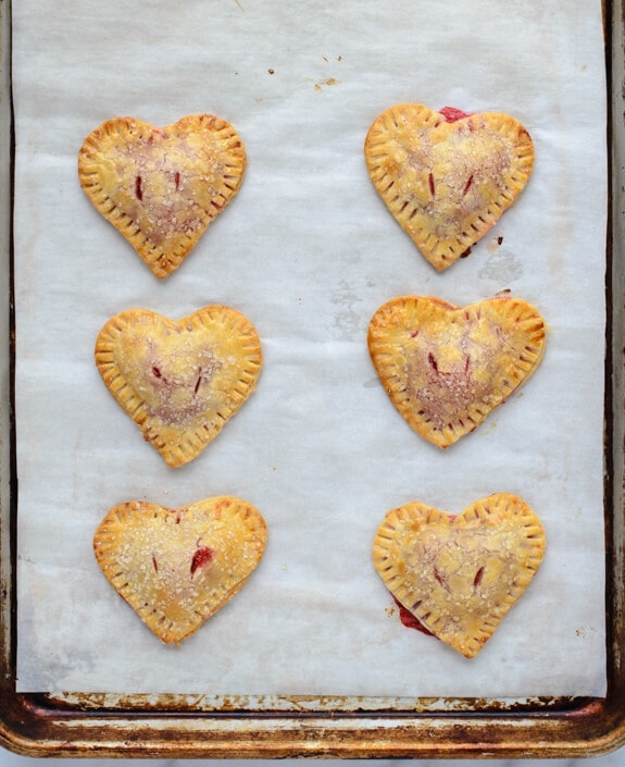 Valentine Heart Strawberry Hand Pies