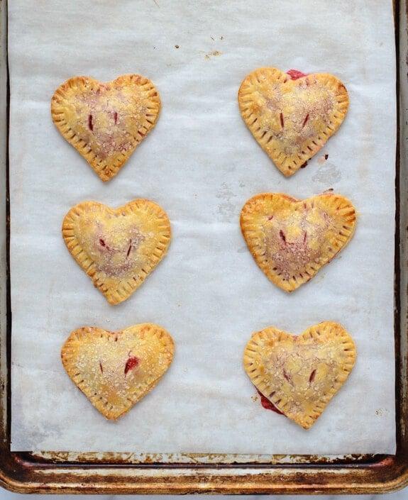 Valentine Heart Strawberry Hand Pies