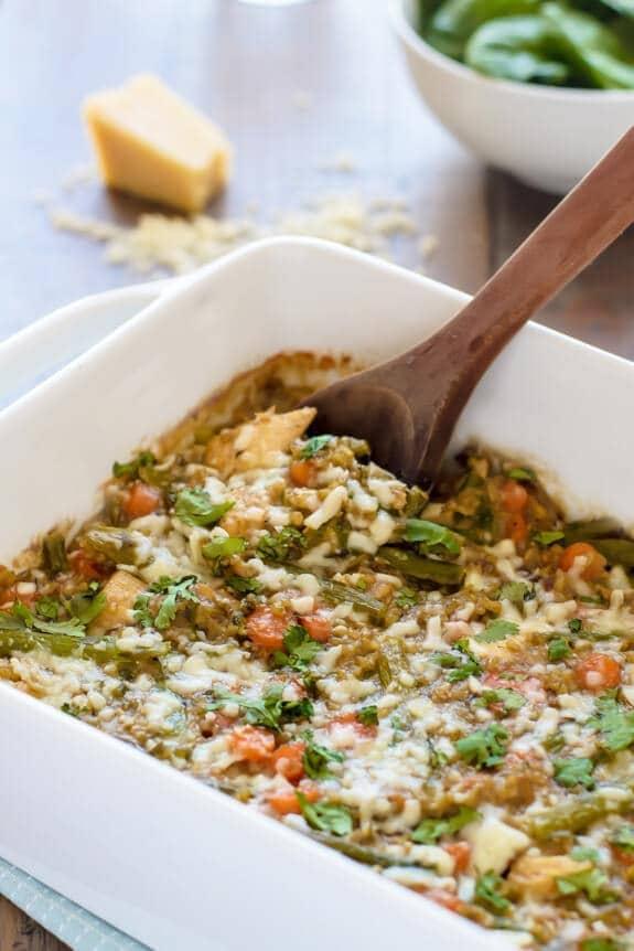 Cheesy Chicken Asparagus Casserole