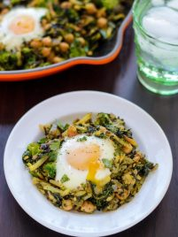 Curried Chickpea Broccoli Hash