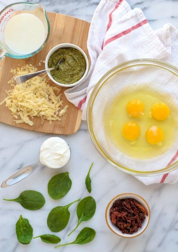 Healthy Pesto Quiche