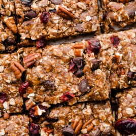 Salted chocolate almond granola bars