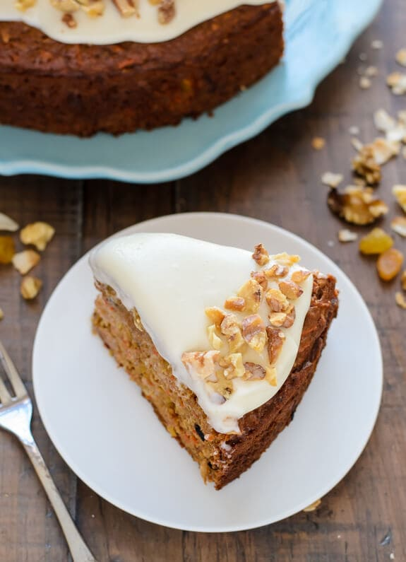 The most moist healthy carrot cake recipe with skinny cream cheese frosting