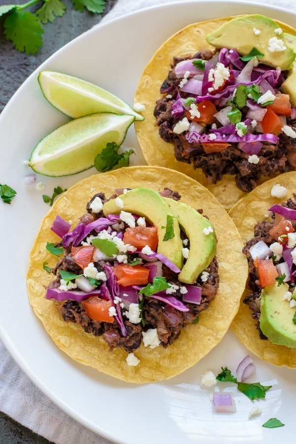 10 Minute Tostadas. This recipe saves weeknight dinner!