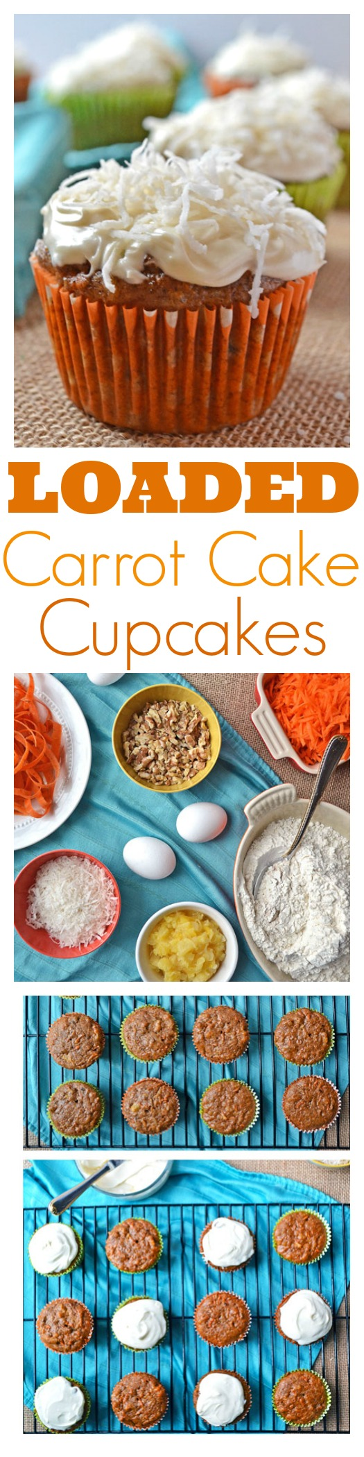 Loaded Carrot Cake Cupcakes // Well-Plated