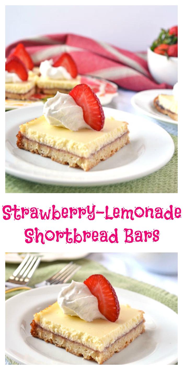 Strawberry Lemonade Shortbread Bars // Well-Plated