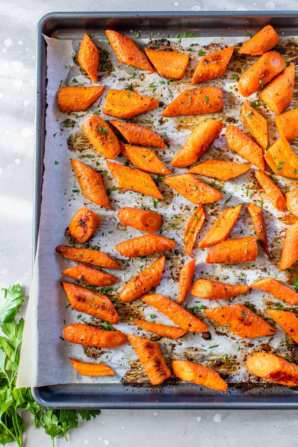 A fast and delicious way to roast carrots using cumin and tahini