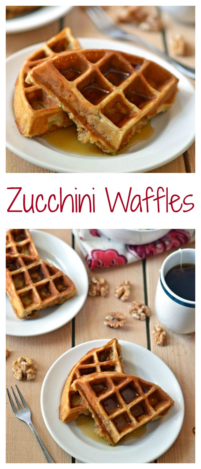 Zucchini Waffles // Well-Plated