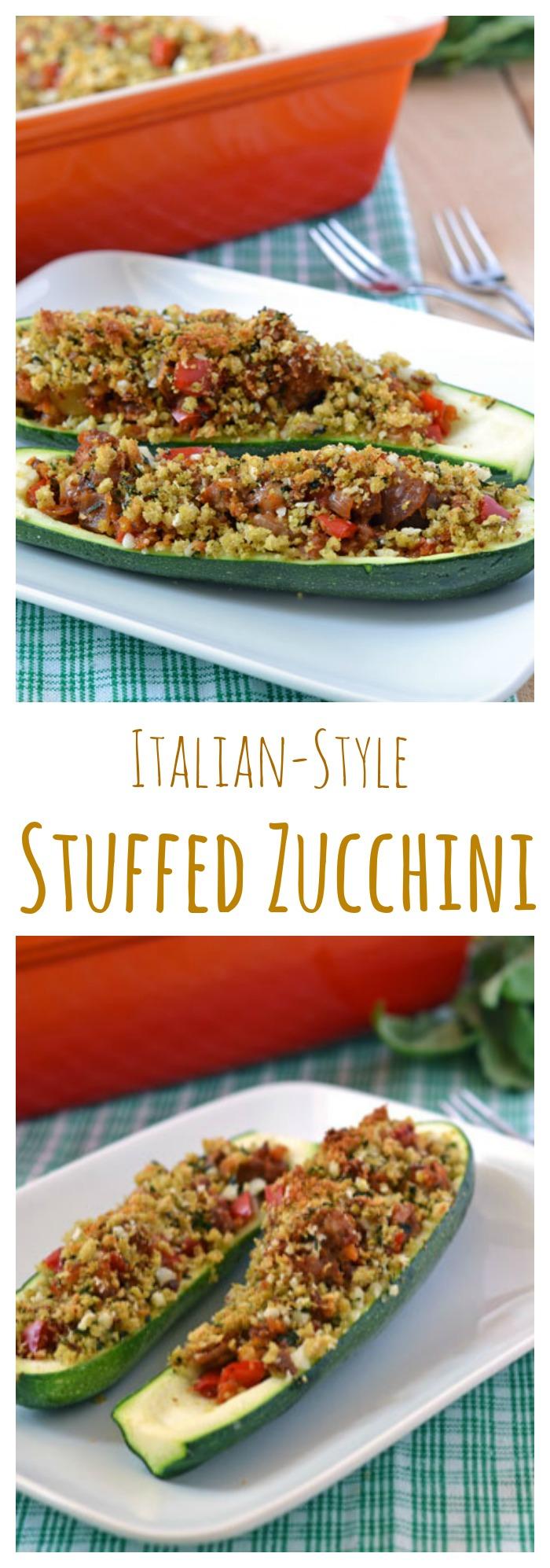 Stuffed Zucchini // Well-Plated