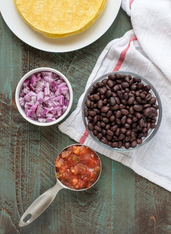 Easy Black Bean Tostada Recipe