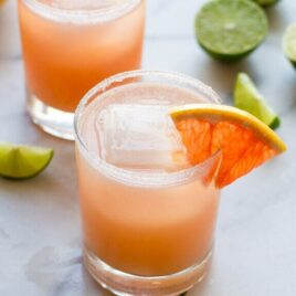 Fizzy Grapefruit Margaritas. SO refreshing!