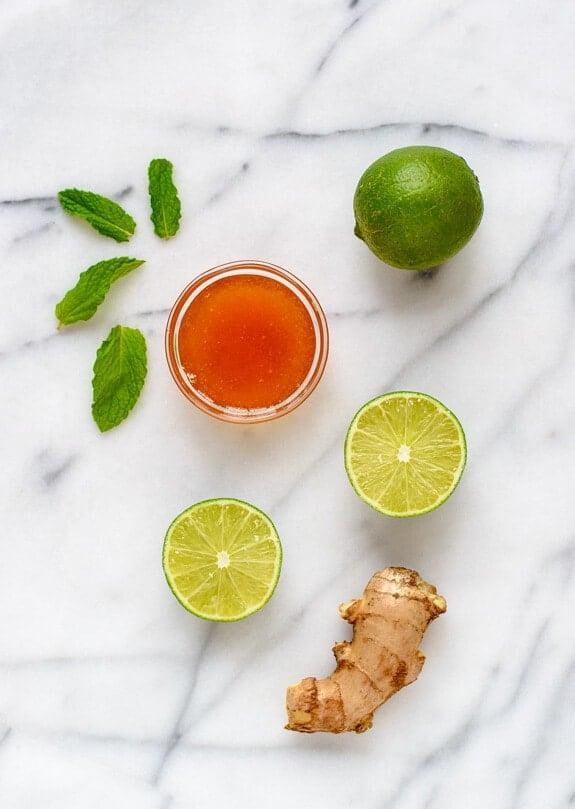 Honey Ginger Tofu Veggie Stir Fry with Lime