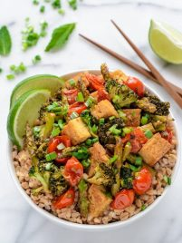 Honey Lime Ginger Tofu Stir Fry